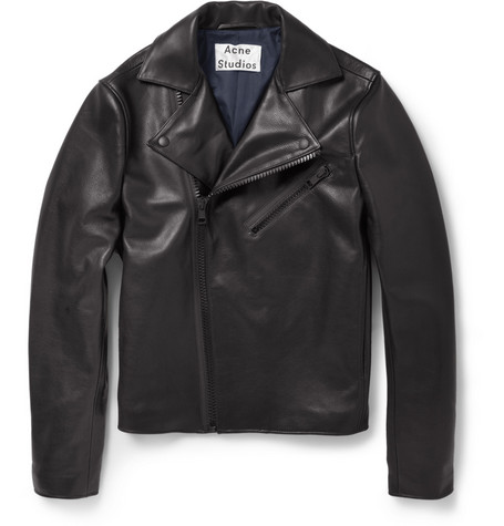 Acne Studios Gibson Slim-Fit Leather Biker Jacket