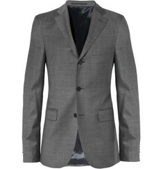 Acne Grey Drifter Slim-Fit Wool Suit Jacket