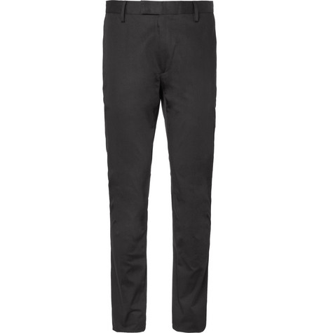 Acne Studios Max Satin Slim-Fit Cotton-Blend Trousers