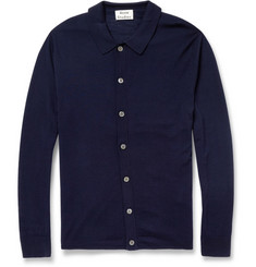 Acne Studios Clissold Buttoned Knitted Wool Polo Shirt