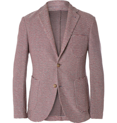 Incotex Montedoro Giacco Slim-Fit Unstructured Knitted-Cotton Blazer