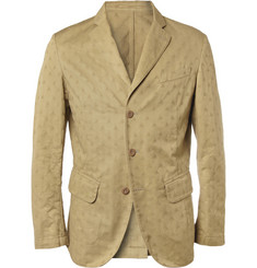 Slowear Montedoro Unstructured Patterned Cotton Blazer