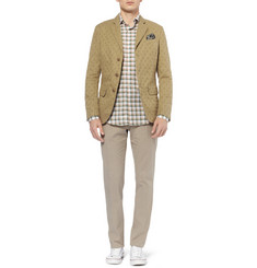 Incotex Montedoro Unstructured Patterned Cotton Blazer