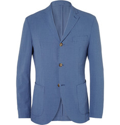 Incotex Montedoro Slim-Fit Lightweight Wool and Silk-Blend Seersucker Blazer
