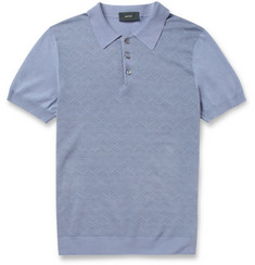 Incotex Zanone Fine-Knit Cotton Polo Shirt