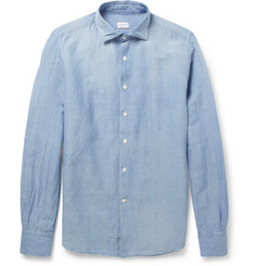Incotex Glanshirt Slim-Fit Linen and Cotton-Blend Shirt