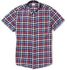 Incotex Gingham Check Cotton-Twill Shirt