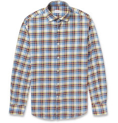 Incotex Glanshirt Slim-Fit Check Lightweight Cotton-Twill Shirt
