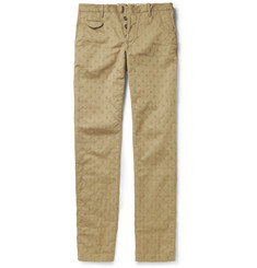Incotex Slim-Fit Cotton-Jacquard Chinos