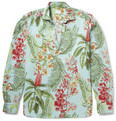 Incotex - Adrian Tropical Printed Cotton and Linen-Blend Shirt
