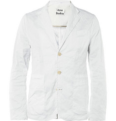 Acne Studios Slim-Fit Crinkled Cotton-Blend Blazer