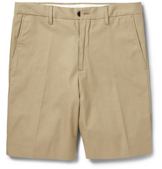 Acne Studios Adrian Dot Slub Cotton-Blend Shorts