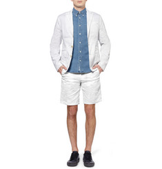 Acne Studios Adrian Creased Cotton-Blend Shorts