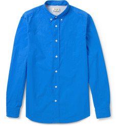 Acne Isherwood Button-Down Collar Cotton-Poplin Shirt