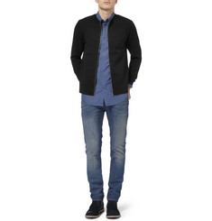 Acne Studios Lang Zipped Knitted Cardigan