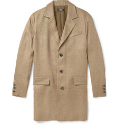 A.P.C. Unstructured Woven-Linen Overcoat