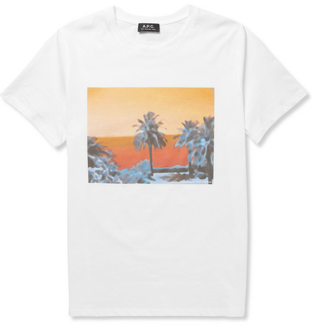 A.P.C. Printed Cotton-Jersey T-Shirt