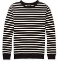 A.P.C. - Striped Loopback Cotton-Jersey Sweatshirt
