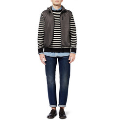 A.P.C. Striped Loopback Cotton-Jersey Sweatshirt