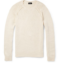 A.P.C. Cotton, Cashmere and Silk-Blend Sweater