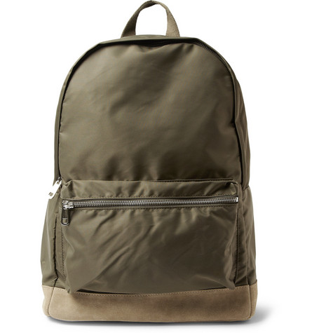 A.P.C. Suede-Trimmed Backpack