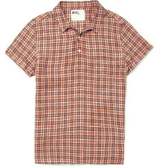 Margaret Howell MHL Half-Placket Check Linen Shirt
