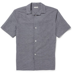 Margaret Howell Check Short-Sleeved Linen and Cotton-Blend Shirt