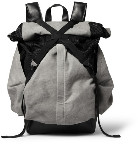 Christopher Raeburn Aruck Leather and Canvas Backpack