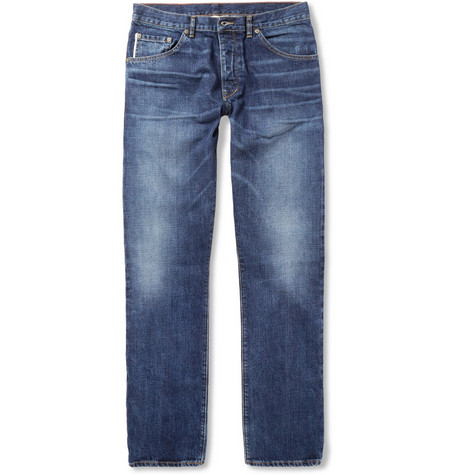 Raleigh Denim Jones Slim-Fit Washed Selvedge Denim Jeans
