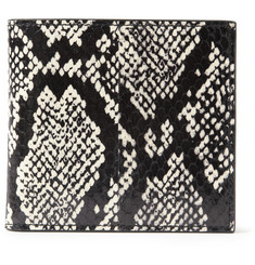 Alexander McQueen Elaphe and Leather Billfold Wallet