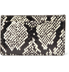 Alexander McQueen Elaphe and Leather Cardholder
