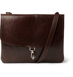 Maison Martin Margiela Full-Grain Leather Messenger Bag