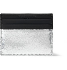 Maison Martin Margiela Metallic-Panelled Leather Card Holder
