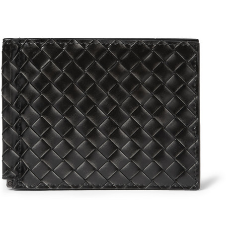 Bottega Veneta Metallic-Effect Intrecciato Leather Wallet
