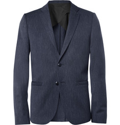 Folk Slim-Fit Flecked Wool and Cotton-Blend Blazer