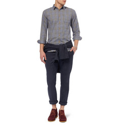 Folk Slim-Fit Flecked Wool and Cotton-Blend Trousers