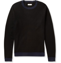 Folk Contrast-Trim Brushed-Fleece Sweater