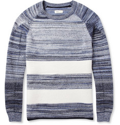 Folk Striped Cotton and Wool Sweater
