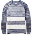 Folk - Striped Cotton and Wool Sweater