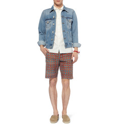 Folk Printed Cotton Shorts