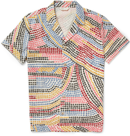 Folk Slim-Fit Printed Cotton Short Sleeve Shirt