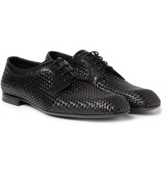 Bottega Veneta Intrecciato Leather Derby Shoes