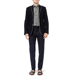Bottega Veneta Check-Print Lightweight Cotton-Voile Shirt