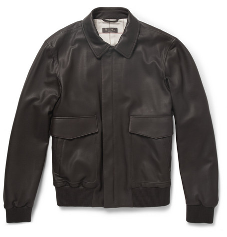 Loro Piana Leather Bomber Jacket