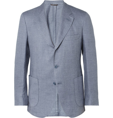 Loro Piana Unstructured Linen, Cashmere and Silk-Blend Blazer