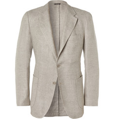 Loro Piana Woven Hemp and Wool-Blend Blazer