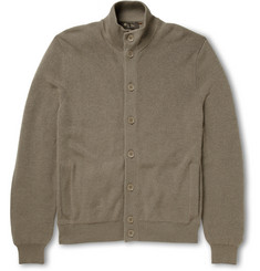 Loro Piana Suede-Trimmed Cashmere and Silk-Blend Cardigan