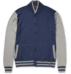 Loro Piana Silk and Cashmere-Blend Varsity Cardigan
