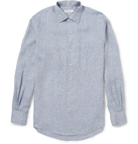 Loro Piana Andre Linen-Chambray Shirt