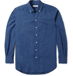 Loro Piana Cotton and Linen-Blend Chambray Shirt